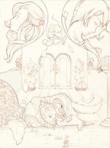 Lineart inchiostrata del disegno definitivo