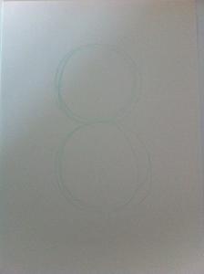 Tracciamo due cerchi uguali per la costruzione della figura