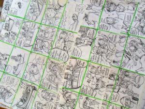 Dal momento che nello yonkoma le vignette hanno una grandezza e un numero regolare, ho potuto ottimizzare tantissimo lo spazio per il namenote!