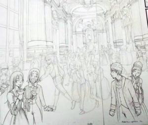 Quando inchiostro parto sempre dai personaggi in primo piano, per andare poi a dettagliare gli altri piani e lo sfondo
