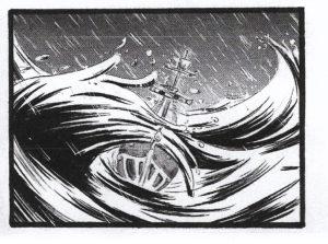 Inchiostro, fude e retini per il mare in tempesta